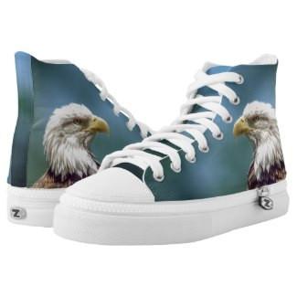 Bald Eagle High Top Tennis Shoes