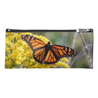 Monarch Butterfly on Goldenrod Pencil Case