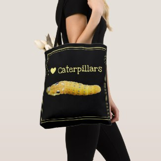 I Love Caterpillars Spicebush Swallowtail Caterpillar Tote Bag