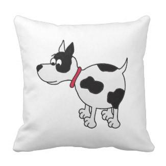 Cartoon Dog Throw Pillow