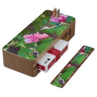Ruby Throated Hummingbird Cribbage Board