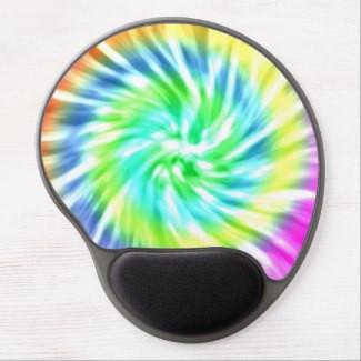 Tie Dye Design Gel Mousepad