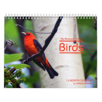 Backyard Birds Calendar Scarlet Tanager Cover