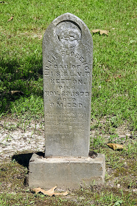 Old Gravestone at Keeton Cemetery in Lake Hope State Park McArthur Ohio