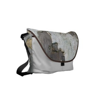 Tree Bark Design Messenger Bag