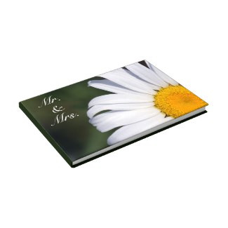 Offset Daisy Mr. & Mrs. Guestbook