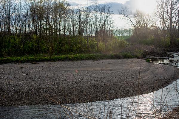 Kinnikinnick Creek located at Kinnikinnick Nature Preserve in Southeastern Ohio Chillicothe