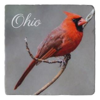 Cardinal Ohio Stone Trivet