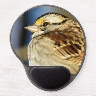 White-Throated Sparrow Bird Gel Mousepad
