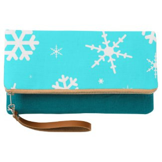 Snowflake Design Fold-Over Clutch