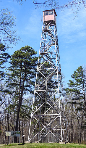 Fire Tower at Tar Hollow State Park Campground