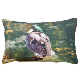 Mallard Duck Lumbar Pillow