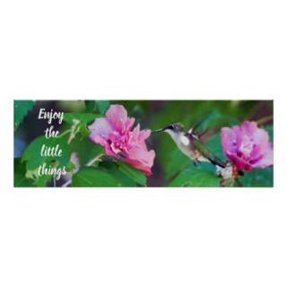 Enjoy the Little Things Hummingbird Poster
