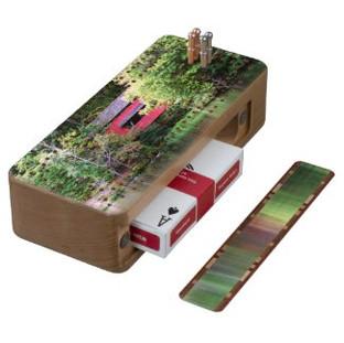 Covered Bridge Cribbage Board