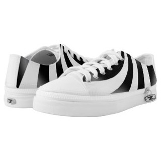 Black and White Low Top Sneakers