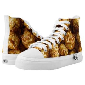 Caramel Popcorn Design High Top Tennis Shoes