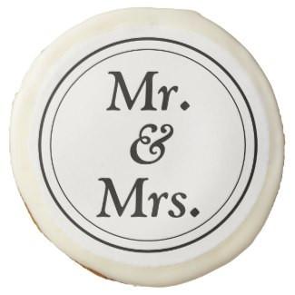 Monochromatic Mr & Mrs Cookies