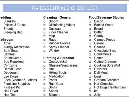 RV Camping List