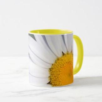 Offset Daisy Coffee Mug