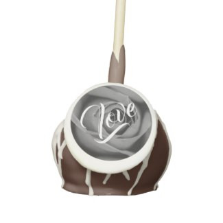 Rose Love Chocolate Cake Pops with Icing & Drizzle