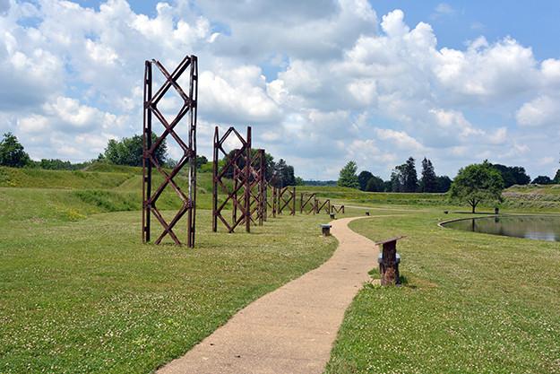 Sentinels of Steel Sculptures at Ariel-Foundation Park in Mount Vernon Ohio