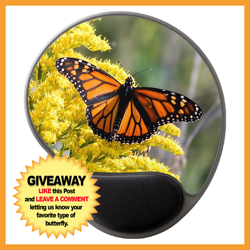 Monarch Butterfly Gel Mousepad