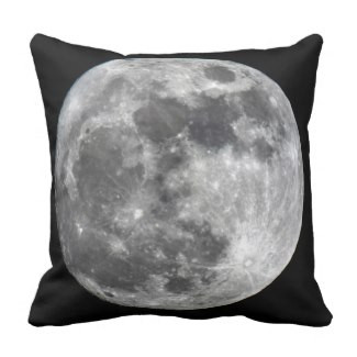 Supermoon Moon Throw Pillow