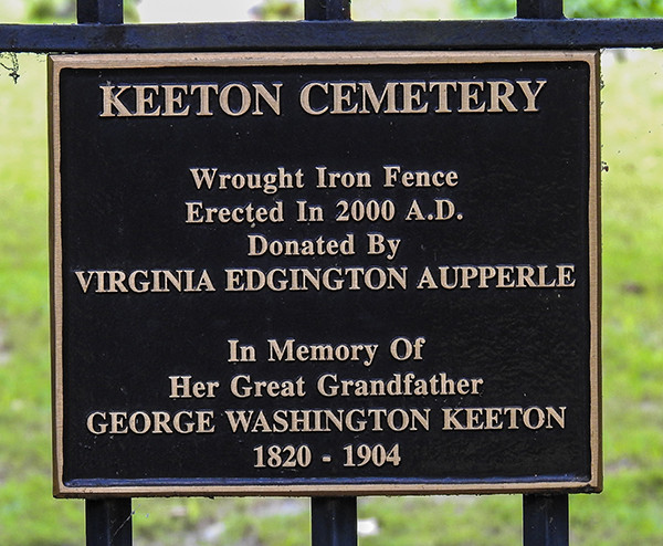 Donation of Wrought Iron Fence at Keeton Cemetery in Lake Hope State Park McArthur Ohio