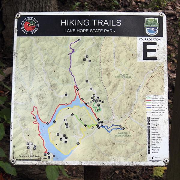 Hiking Trails at Lake Hope State Park McArthur Ohio