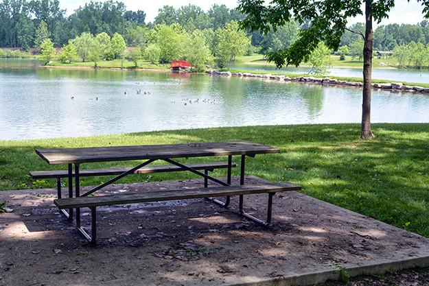 Mavis Island at Ariel Foundation Park in Mount Vernon Ohio