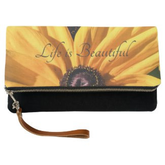 Life is Beautiful Black Eyed Susan Clutch