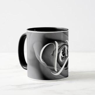 Monochromatic Rose Love Coffee Mug