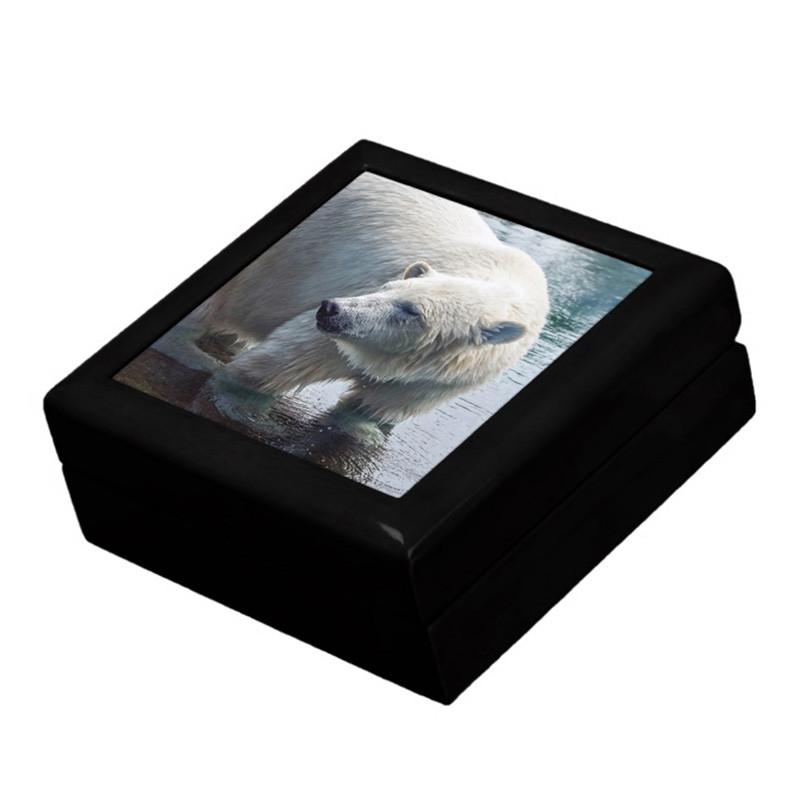 Polar Bear Keepsake Box with Ceramic Tile