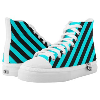 Striped High Top Tennis Shoes