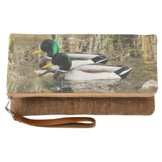Mallard Ducks Fold-Over Clutch