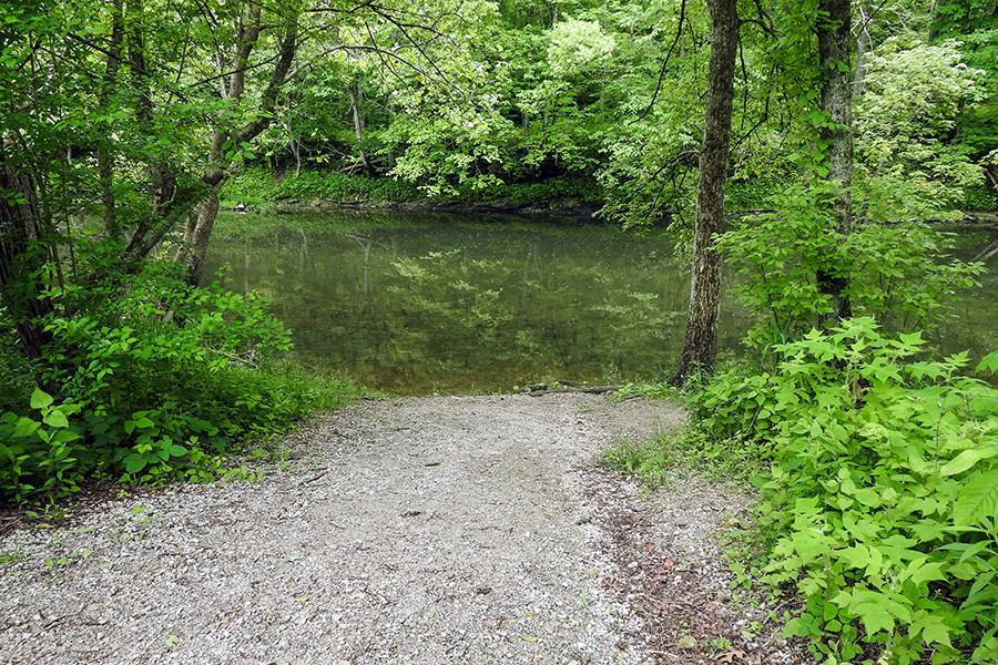 Canoe and Kayak Launch at Caesar Creek Gorge in Waynesville Ohio