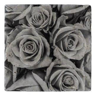 Monochromatic Roses Stone Trivet