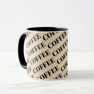 Coffee Patterned Coffee Mug