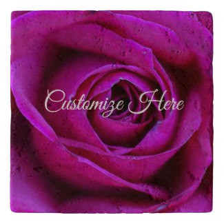 Personalized Rose Stone Trivet