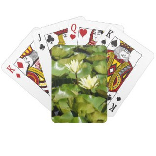 Lily Pads and Blooms Playing Cards