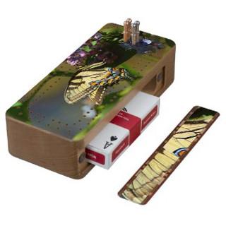 Tiger Swallowtail Cribbage Board