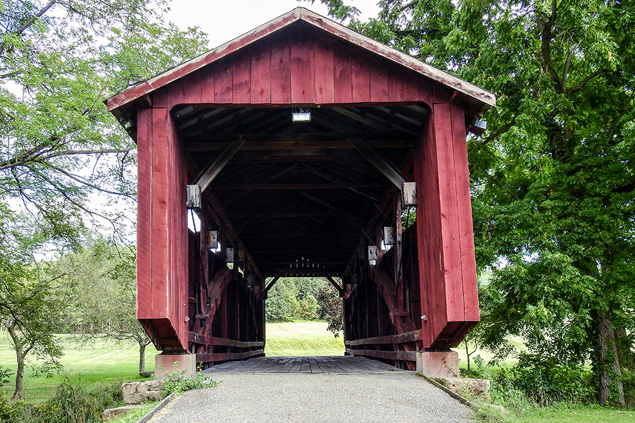 The John Bright #2 Bridge in Fairfield County at Ohio University Lancaster