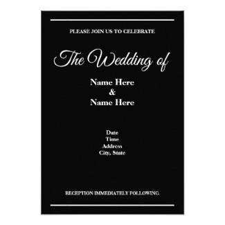 Black & White Wedding Invitation Card