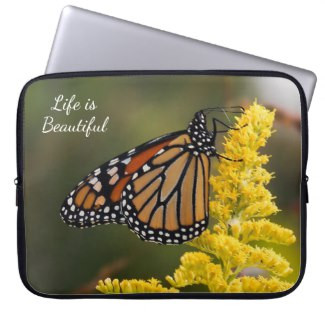 Live Life W/ Grace Monarch Neoprene Laptop Sleeve