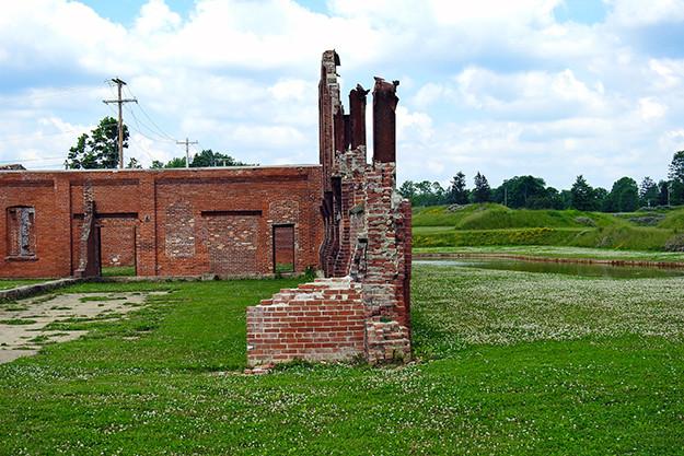 Coxey Building Ruins at Ariel-Foundation Park in Mount Vernon Ohio