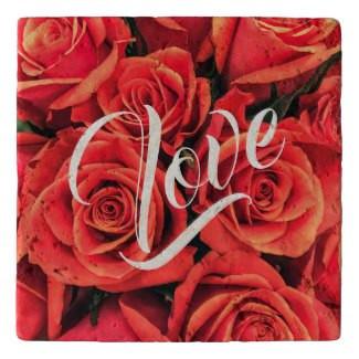 Roses Love Stone Trivet