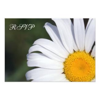 Offset Daisy RSVP Flat Card