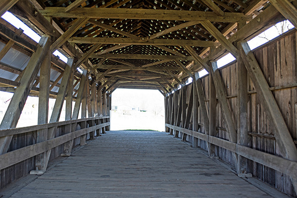 Hannaway Covered Bridge Two Glaciers Park Fairfield County Ohio