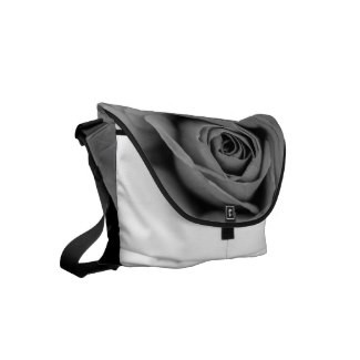 Monochromatic Rose Messenger Bag