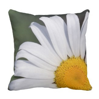 Offset Daisy Throw Pillow